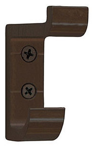 Heavy Duty Aluminum Double Prong Coat Hook 154-104 - Dark Brown - CLEARANCE