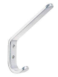 Aluminum Double Prong Coat Hook 230-201 - Anodized Silver