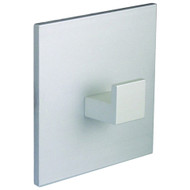 Aluminum Single Prong Coat Hook with Square Back Plate 230-305