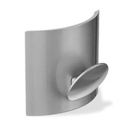 Zinc Single Knob Coat Hook with Convex Back Plate 230-315 - Chrome Finish