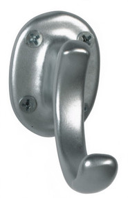 Aluminum Single Prong Coat Hook 151-201 - Silver