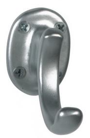 Aluminum Single Prong Coat Hook 151-201 - Silver