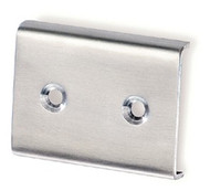 Stainless Steel Wall-Mounted Coat Hook Panel 241-758: Wall-Mounted Stainless Steel Coat Hook Rail Connector 241-770
