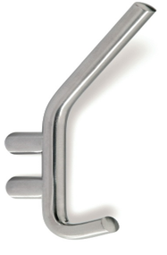 Stainless Steel Double Prong Coat Hook 241-402