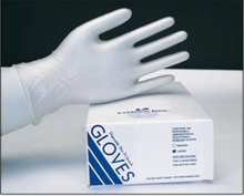 Lithco Shur-Fit Disposable Vinyl Gloves, Case (10 Boxes of 100 Gloves) Large