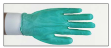 Jomac Heavy-Duty Disposable Green Vinyl Gloves