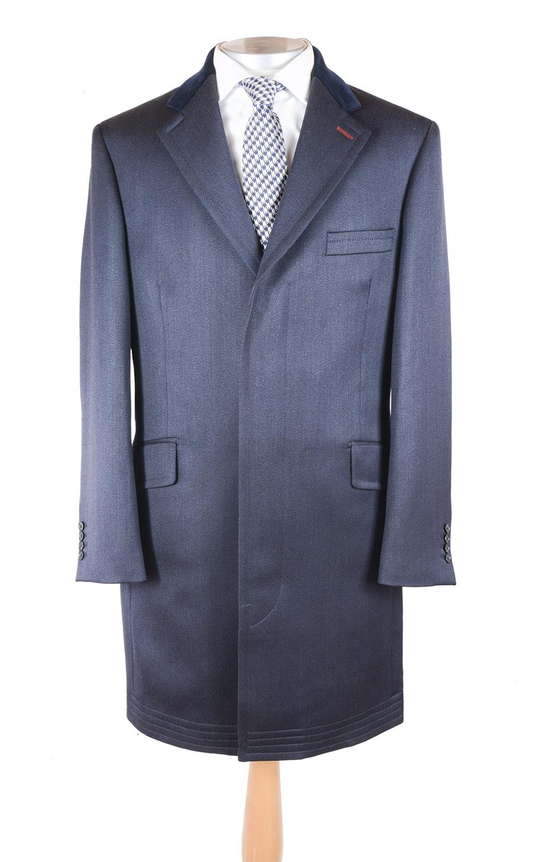 Navy Covert Coat