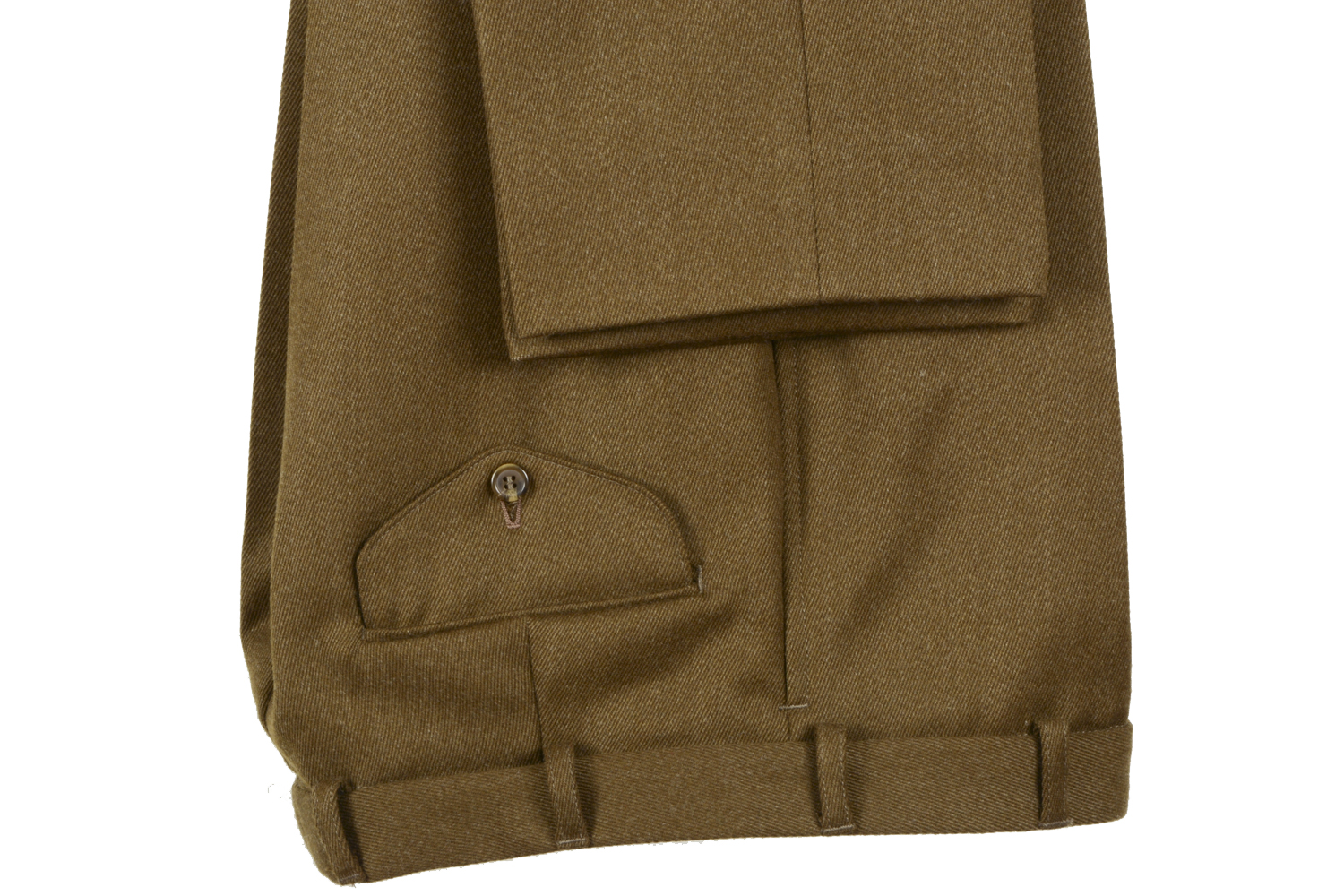 Khaki Whipcord Trousers