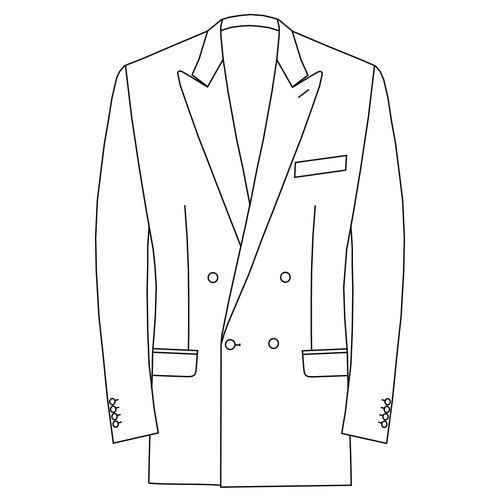 Made to Measure Double Breasted Classic Jacket - Cotton