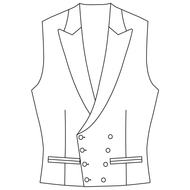 Made to Measure Double Breasted Waistcoat - Coating