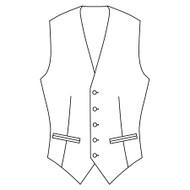 Made to Measure Single Breasted Waistcoat - Coating