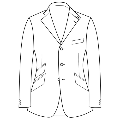 Made to Measure Hacking Jacket - Cotton