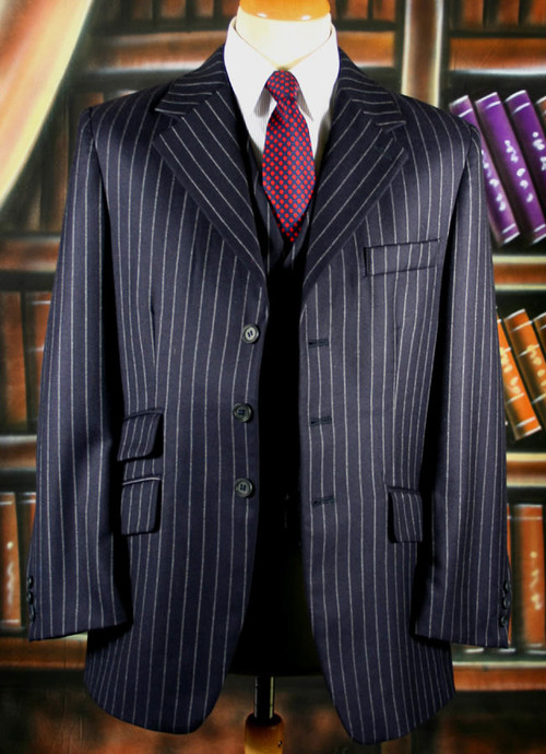Navy Chalk Stripe Suit