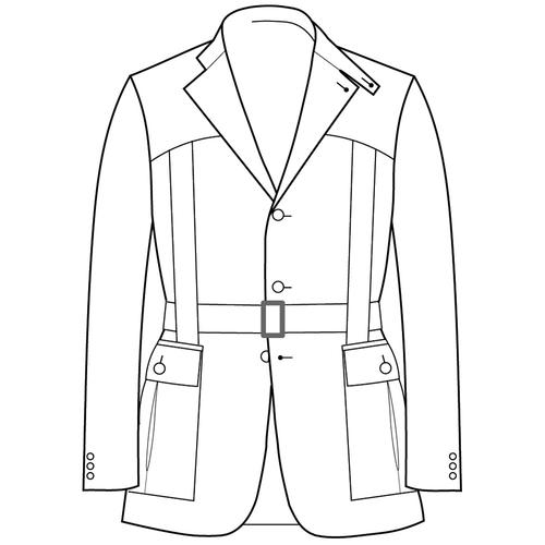 Made to Measure Full Norfolk Jacket - Tweed