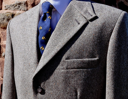 Stone Thornproof Tweed Jacket