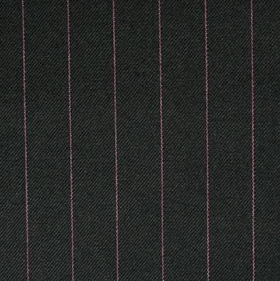Black 1.75cm Pink Pinstripe