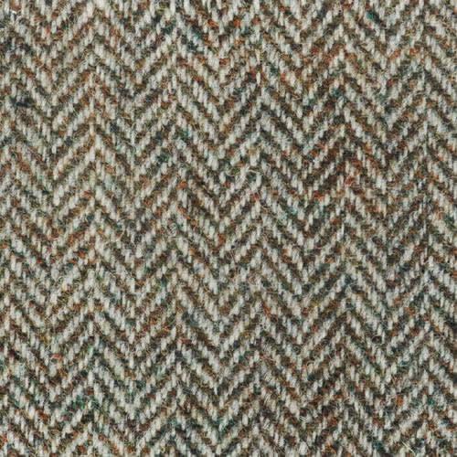 Beige Herringbone Harris Tweed