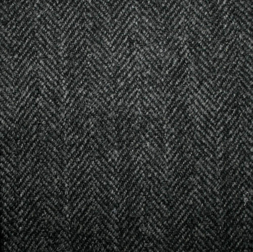 Charcoal Grey Herringbone
