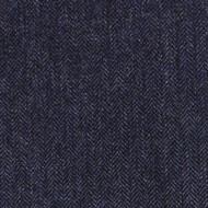 Dark Blue Herringbone Tweed