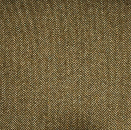 Khaki Herringone Tweed