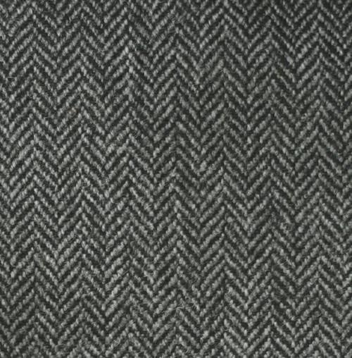 Mid Grey Herringbone Tweed