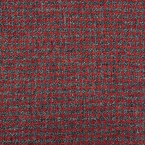 Cherry Houndstooth Tweed