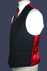 Charcoal Chalk Stripe Waistcoat