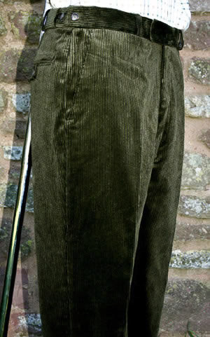 Olive Corduroy Trousers