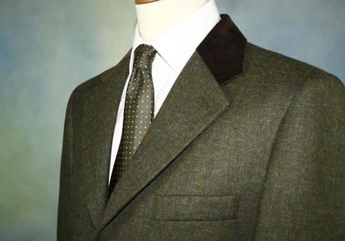 Brown Velvet Collar