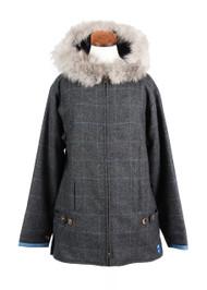 Women's Casual Hooded Tweed Jacket