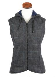 Women's Casual Hooded Tweed Gilet