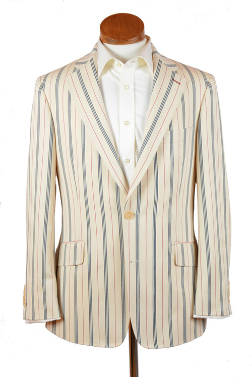 Vintage Stripe Cotton Classic Jacket - Hampton