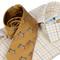 Bookster Tattersall Shirt -  Gold Brown Blue 3