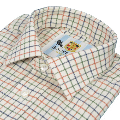 Bookster Tattersall Check Shirt -  Green Navy Brick