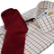 Tattersall Check Shirt Navy Wine 1
