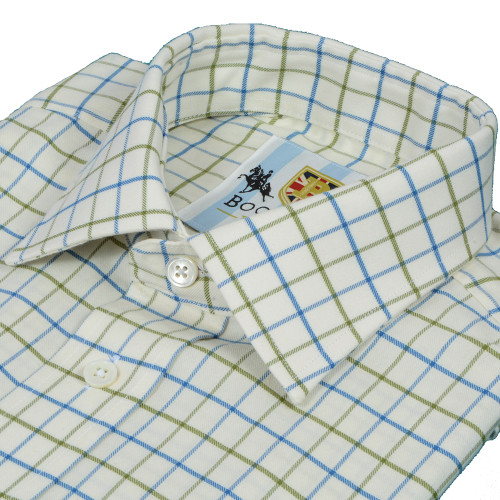 Bookster Tattersall Check Shirt -  Blue Green