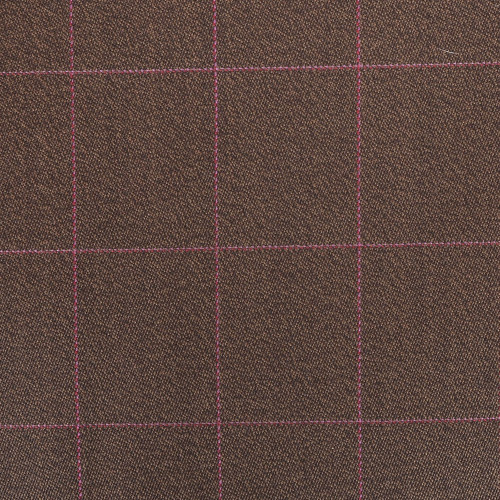 Brown Check Covert Cloth