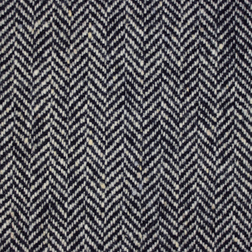 Black & White Herringbone Donegal