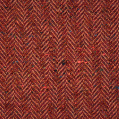 Burnt Orange Herringbone Donegal Tweed