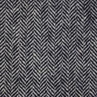 2m Black & White Herringbone Donegal Tweed