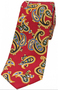 Edwardian Red Paisley Narrow Silk Tie