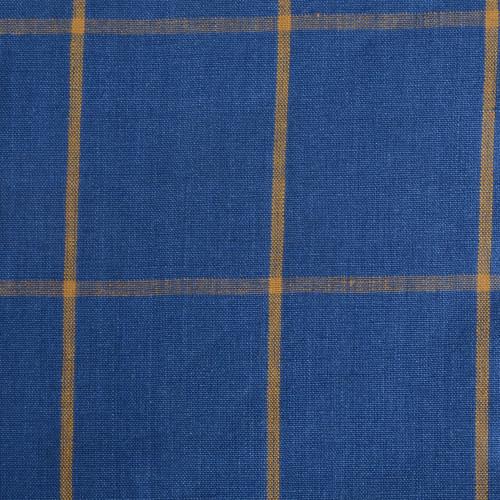 Blue Check Linen