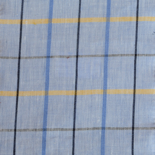 Blue Tattersall Linen