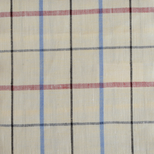 Cream Tattersall Linen