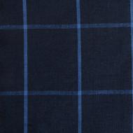 Navy Check Linen