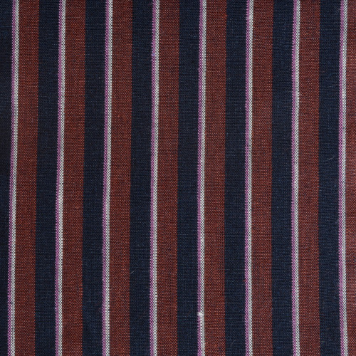 Navy Rust Stripe Linen