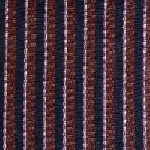 Navy Rust Stripe Linen