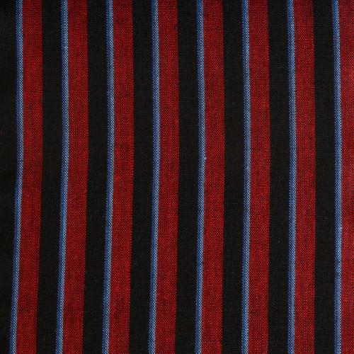 Navy Wine Stripe Linen
