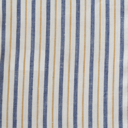 Blue Yellow Stripe Linen