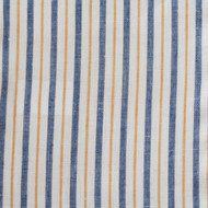 Blue Yellow Stripe Linen
